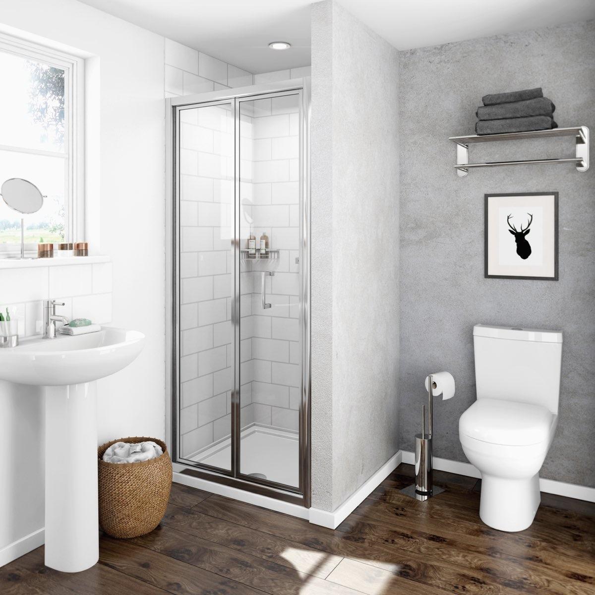 Clarity 4mm bifold shower door  VictoriaPlumcom