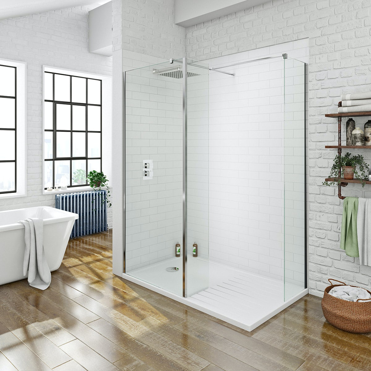 Mode Luxury 8mm Walk In Shower Enclosure With Tray