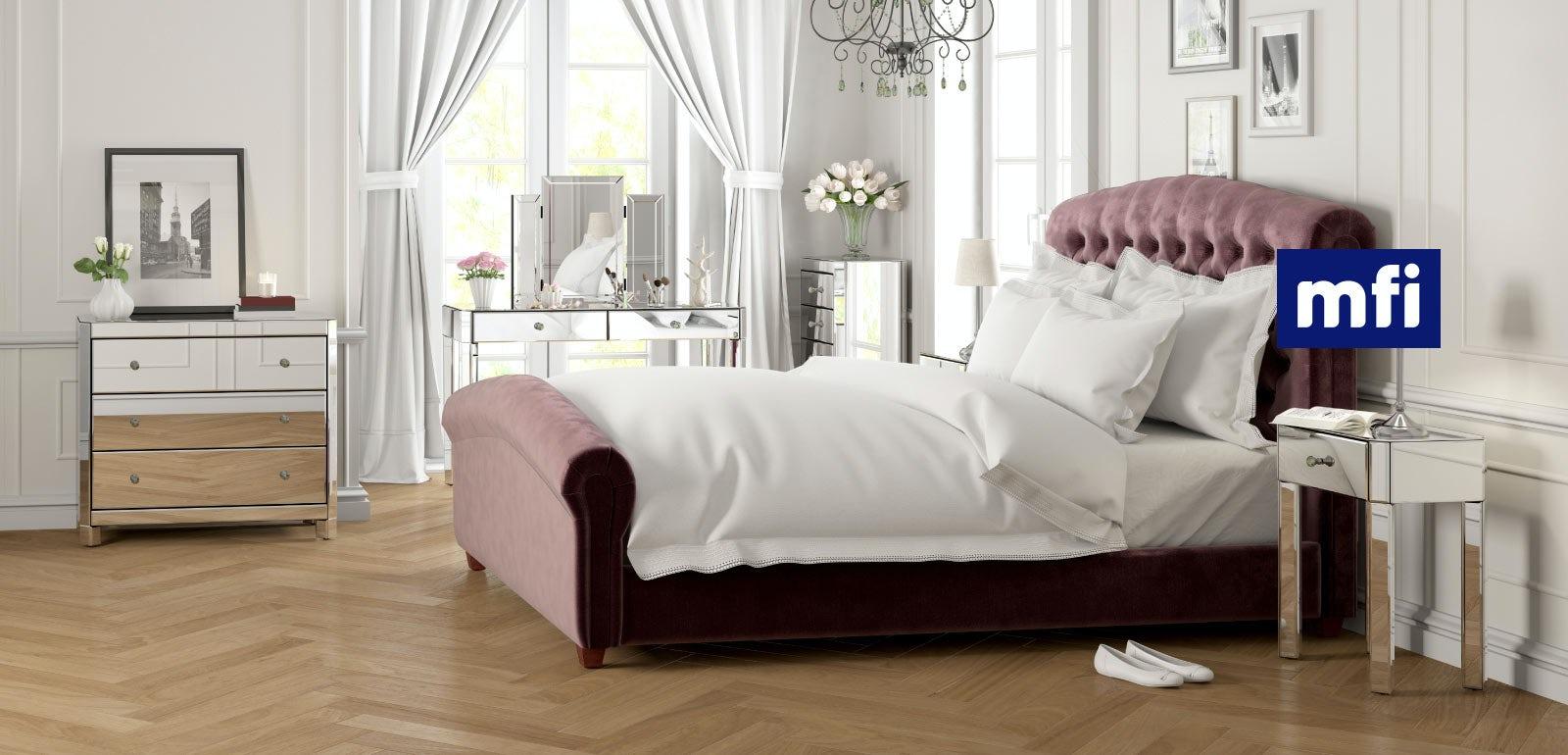 Mirrored glass bedroom furniture  VictoriaPlumcom