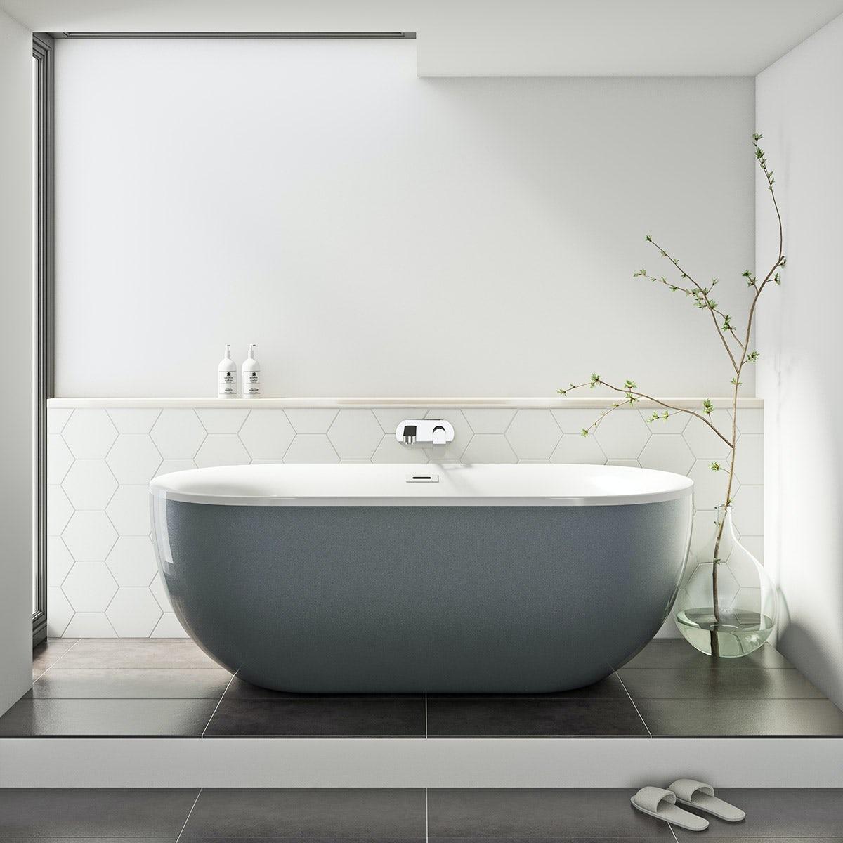 Ellis storm coloured freestanding bath