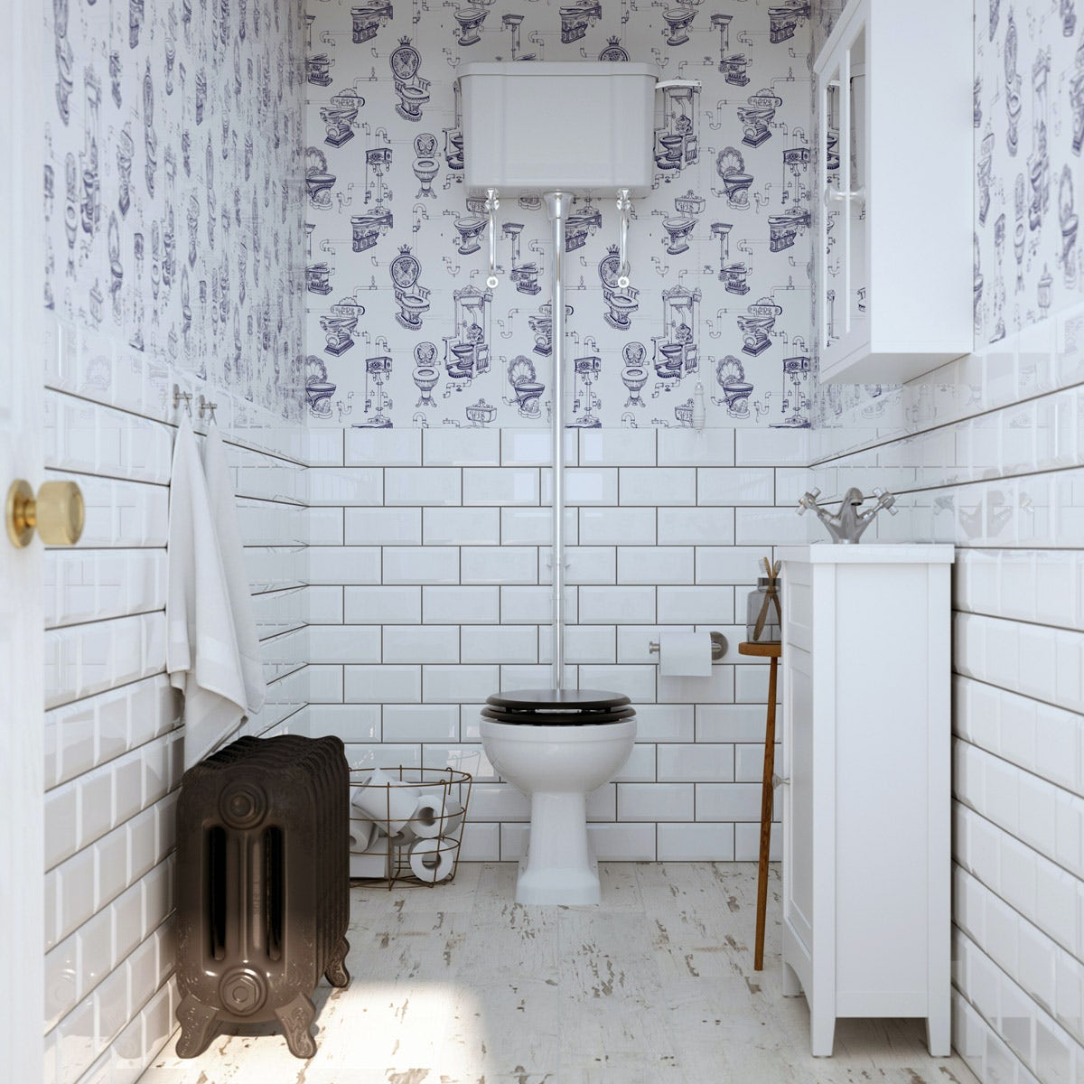 British Ceramic Tile Metro bevel white gloss tile 100mm x 200mm  VictoriaPlumcom