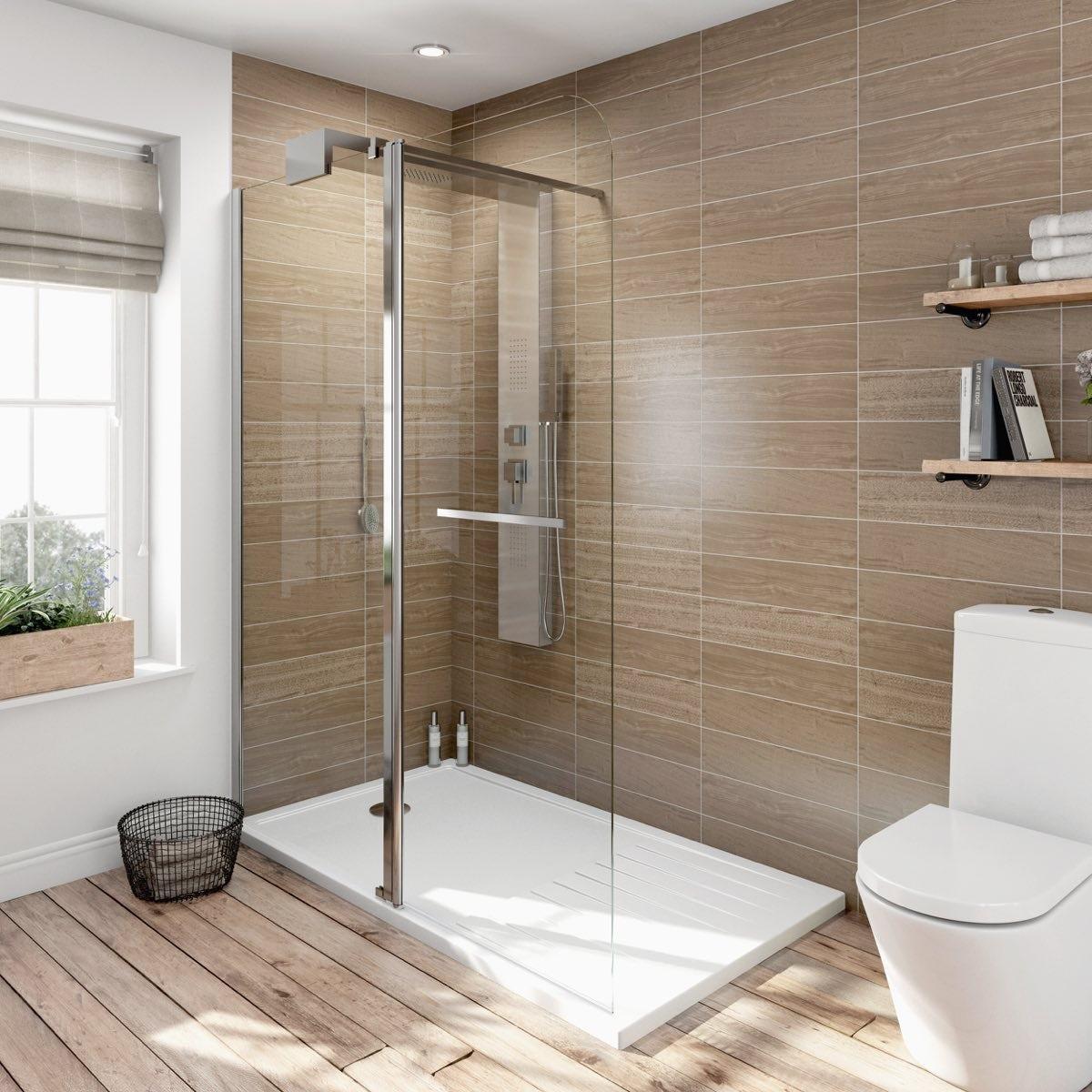 6mm Designer Shower System 1600 x 800 incl Shower Tray