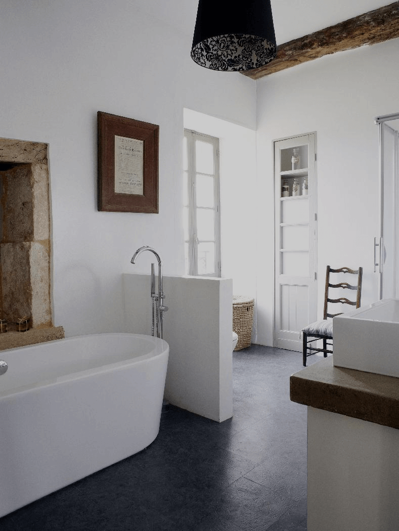 How to create a modern rustic style bathroom