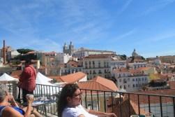 Lisbon, Portugal: outdoor cafe