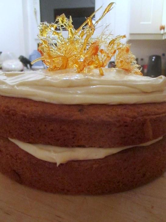 Butterscotch Spun Sugar Cake