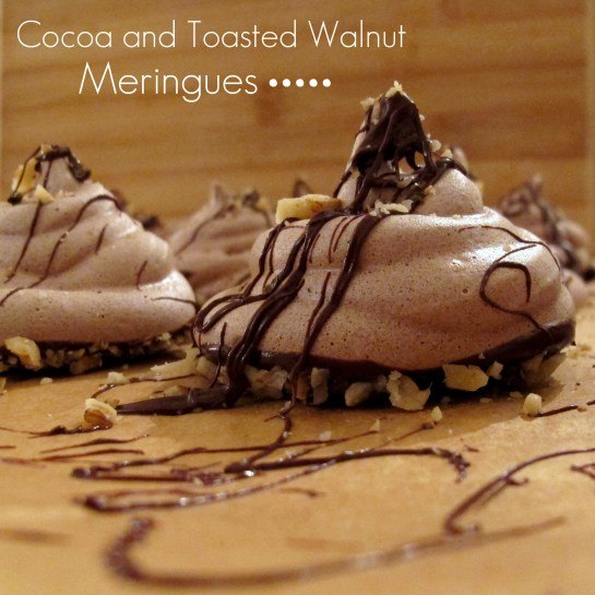 Cocoa and Toasted Walnut Meringues