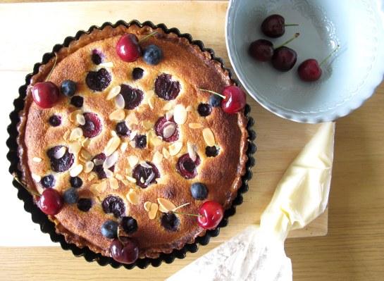 decorating frangipane tart