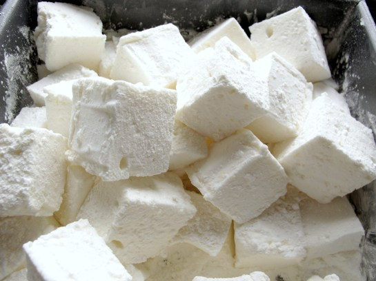 Lemon and Honey Marshmallows Close Up