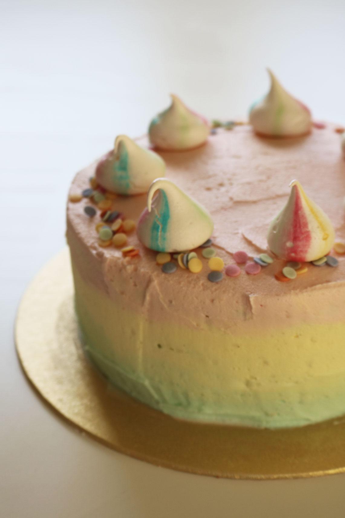 Unicorn Rainbow Funfetti Cake
