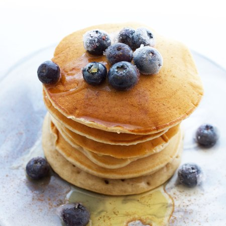 Vegan Blueberry and Cinnamon Pancakes