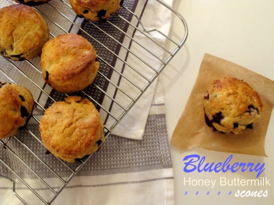 Blueberry honey buttermilk scones