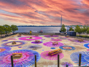 Spirals, Loops and Circles Amanda McCavour June 30 – September 1, 2021 Harbourfront Centre Pond 235 Queens Quay West, South End Accessible 24/7 FREE