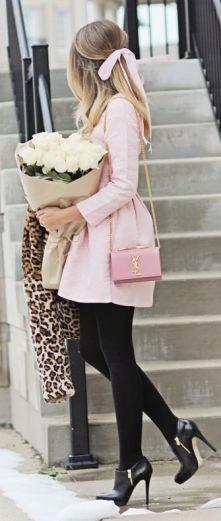 fall-fashion-pink-pink-black-black-ysl