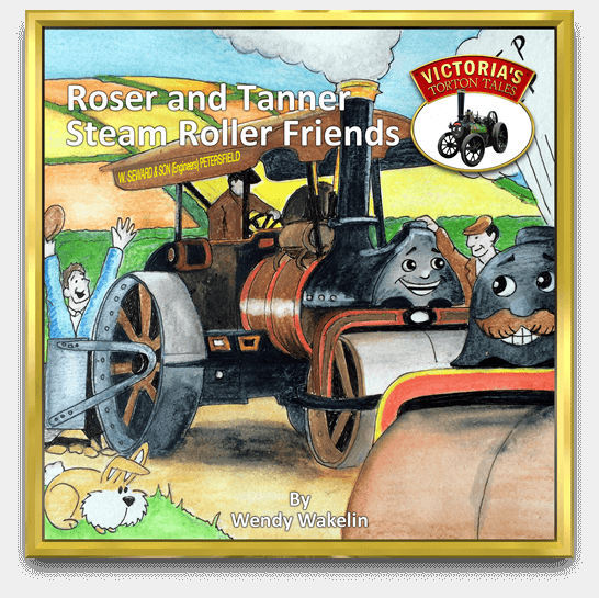 Cover of Roser and Tanner Steam Roller Friends, children's story book