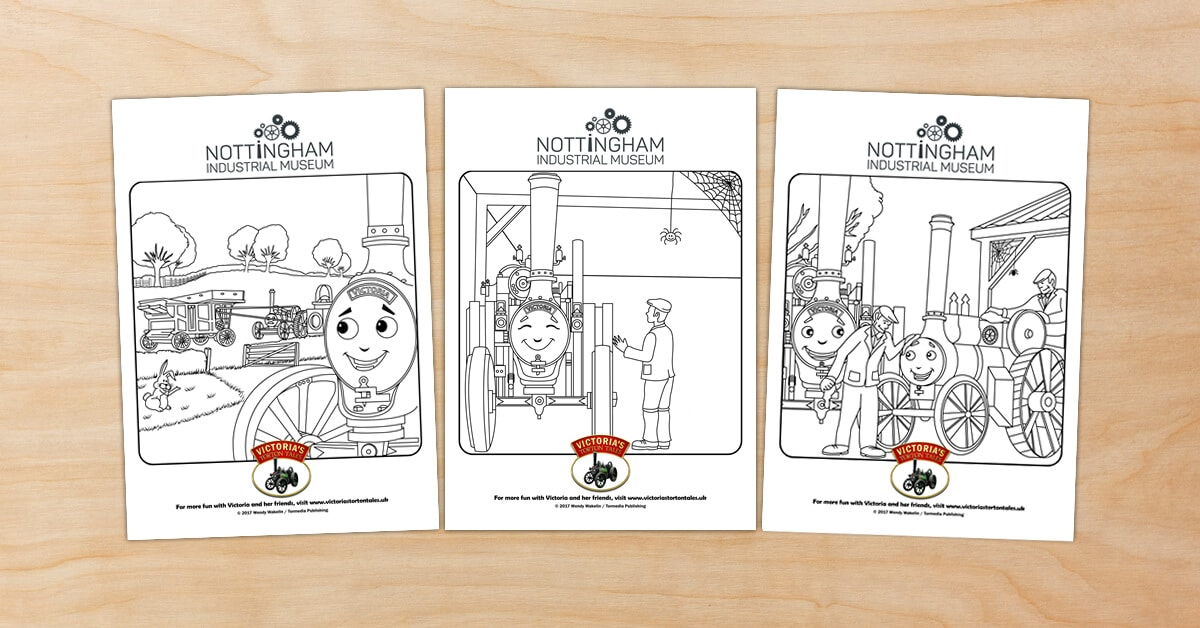 Nottingham Industrial Museum Colouring Pictures