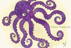 Octopus A6 Postcard - £10
