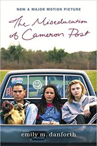 "Movie tie-in book cover for ""The Miseducation of Cameron Post"""
