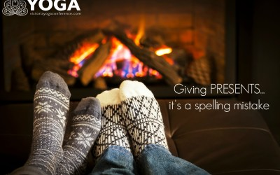 Giving PRESENTS…. it's a spelling mistake