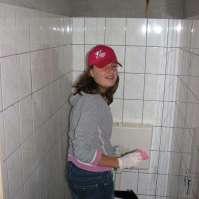 Leonie heeft WC-corvee