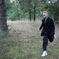Mike als Gargamel in het bos