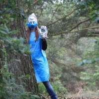 Kooksmurf in het bos