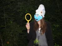 Smurfin Charlotte in het bos