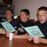 Anthony, Yamiro en Bram zingen er op los