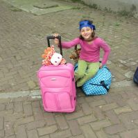 Josefiena heeft veel bagage mee