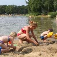 Kliederen met zand en water