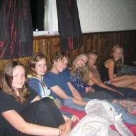Ingeborg, Dagmar, Mees, Sofie, Giovanni en Dana