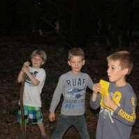 Tynko, Reinout en Jesse in het donkere bos