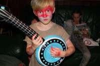 Xylander geeft een gitaarsolo