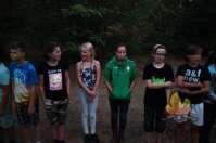 In de avond naar het bos