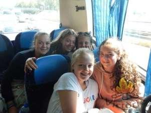 In de bus