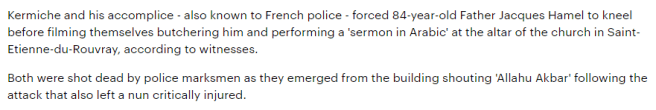 The French Church attack.