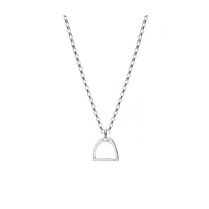 Sterling Silver Stirrup Necklace