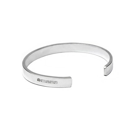 Sterling Silver Mens Cuff Bangle