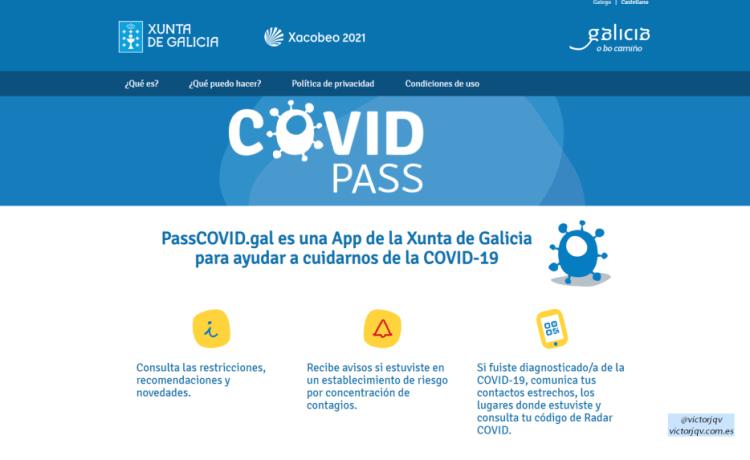 PassCOVID.gal - la App de la Xunta de Galicia para ayudar a cuidarnos de la  COVID-19 » Victor Julio Quesada Varela