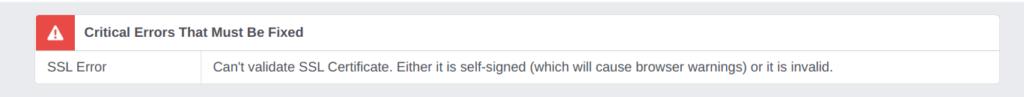 Facebook SSL Error