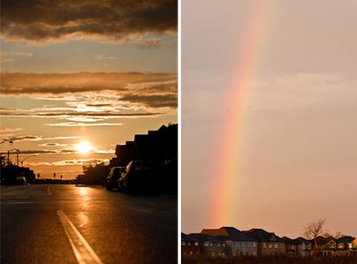Sunset & rainbow