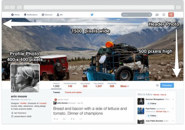 tamaño cabecera Twitter