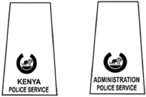 Kenya National Police Service Badges of Ranks 2019