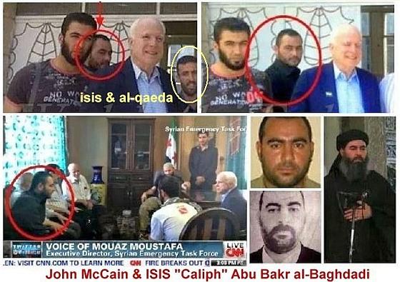 US Senator McCain with ISIS leader al-Baghdadi