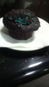 The yummy chocolate muffin