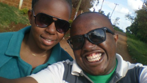 My kid sister Annet and I having a selfie moment