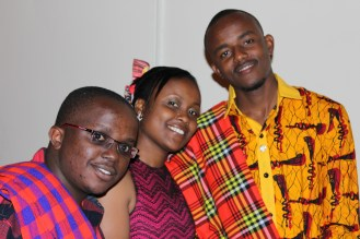 IPP Kevo, Joy and I on the red carpet during Le African Fiesta