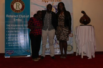 DvJ Incredible, Steph (Rct. Club of Nairobi Muthaiga North) and I on the red carpert during Le African Fiesta
