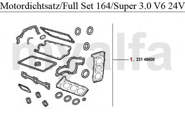 Alfa Romeo 164/Super joints moteur & pièces moteur & Alfa
