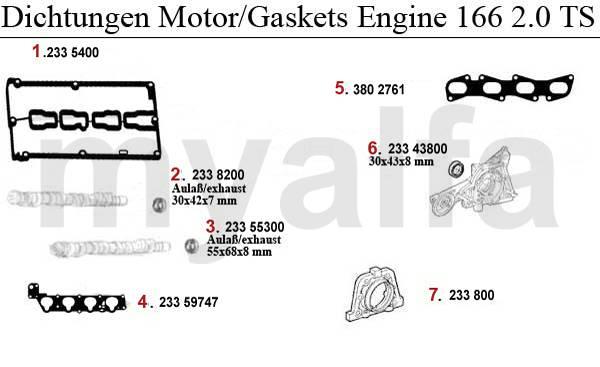 Alfa Romeo 166 Joints moteur & pièces moteur & Alfa Romeo