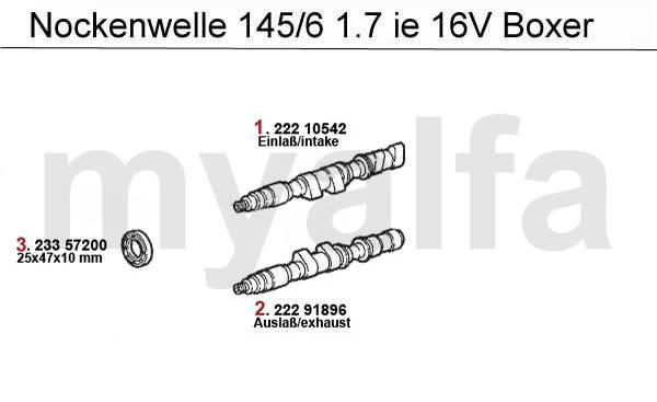 Alfa Romeo 145/6 distribution 1.7 IE 16V Boxer 94-96